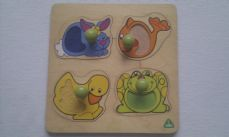 Adorable My 1st Early Learning Centre Cute 'Animal' Peg Chunky Puzzle